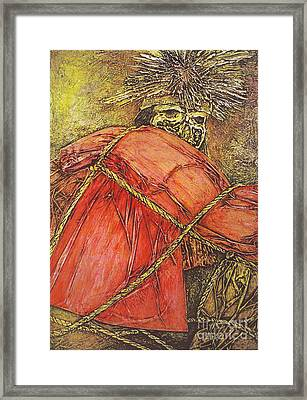 Momia Chiribaya Framed Print by Pamela Iris Harden