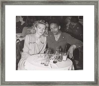 Framed Print featuring the photograph Momma And Daddy In 1949 by Alga Washington