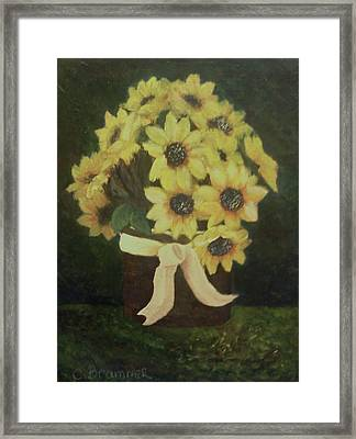 Framed Print featuring the painting Mom's Bouquet by Christy Saunders Church
