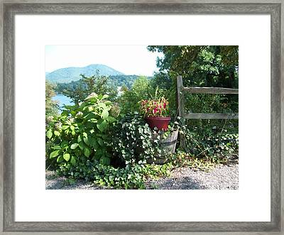Framed Print featuring the photograph Mom's Garden by Lou Ann Bagnall