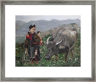 Mom's Little Helper Framed Print by Kim Selig
