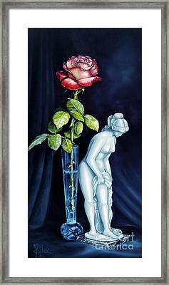 Moms Rose Dads Statue Framed Print by Gilee Barton