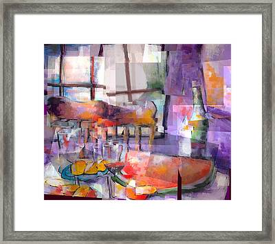 Mom's Table Framed Print by J Christian Sajous