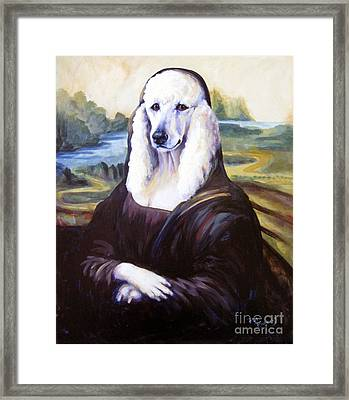 Framed Print featuring the painting Mona Leasha by Pat Burns
