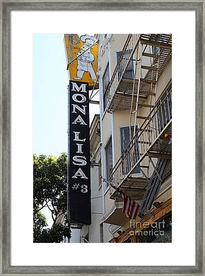 Mona Lisa Restaurant In North Beach San Francisco Framed Print by Wingsdomain Art and Photography