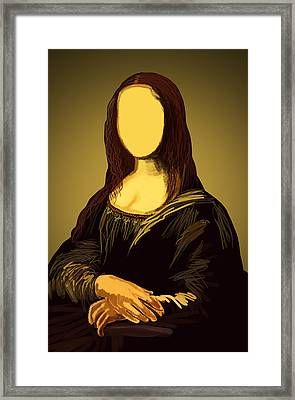 Mona Lisa Framed Print by Setsiri Silapasuwanchai
