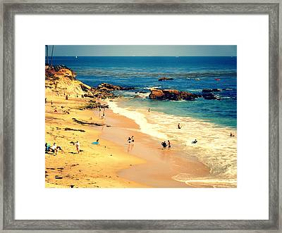 Monarch Beach Day Framed Print by Kevin Moore