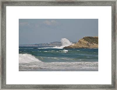 Framed Print featuring the photograph Monarch Wave by Johanne Peale