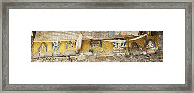 Monastery Building Near Lhasa. Buddhist Framed Print by Phil Borges