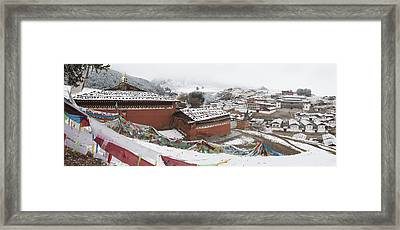 Monastery In Valley Of Druk-chu At Framed Print by Phil Borges