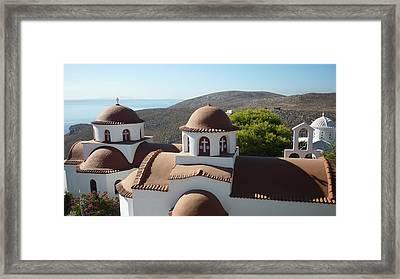 Monastery Of St Savas Framed Print