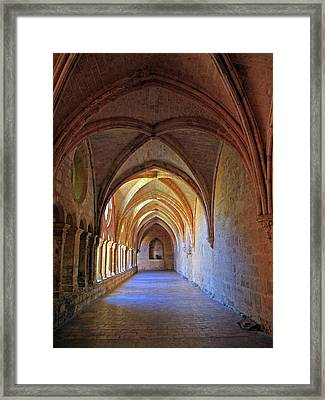Framed Print featuring the photograph Monastery Passageway by Dave Mills