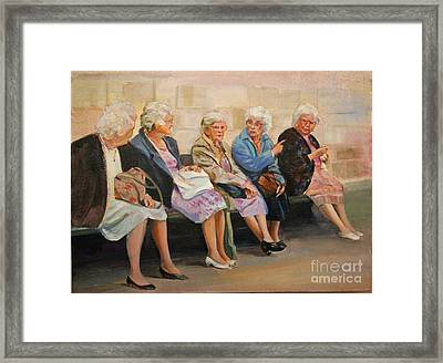 Monday At The Social Security Office Framed Print