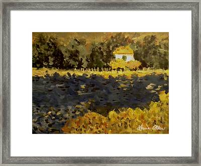 Monet House Framed Print by Laurie Allan