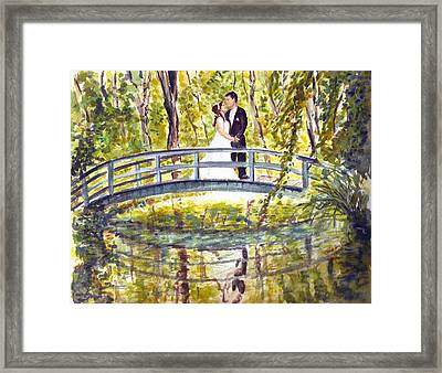 Framed Print featuring the painting Monet Wedding by Clara Sue Beym