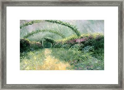 Monet's Trellis IIi Framed Print