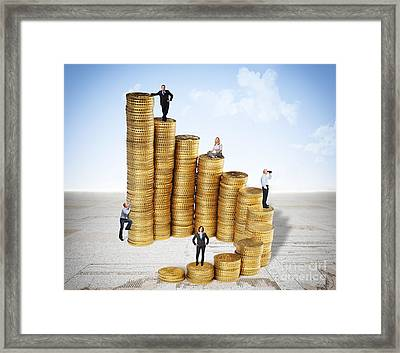 Money And People Framed Print