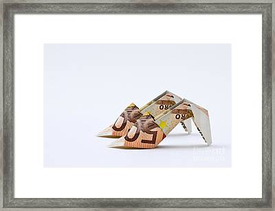 Money For Shoes Framed Print by Catherine MacBride