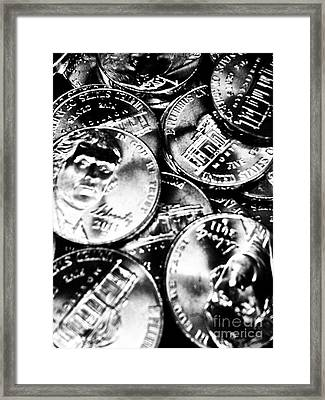Money Framed Print by Ronnie Glover