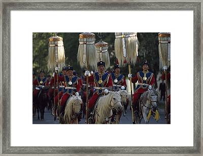 Mongol Armed Forces Framed Print by James L. Stanfield