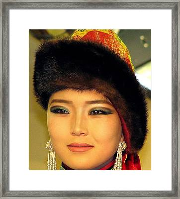 Mongolian Model Framed Print by Diane Height