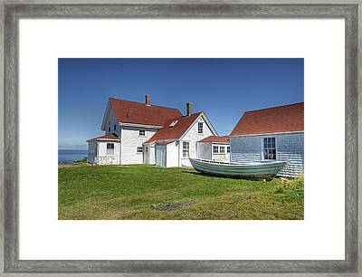 Monhegan Dory Framed Print by J R Baldini M Photog Cr