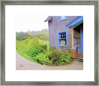 Monhegan Gallery Framed Print by Richard Stevens