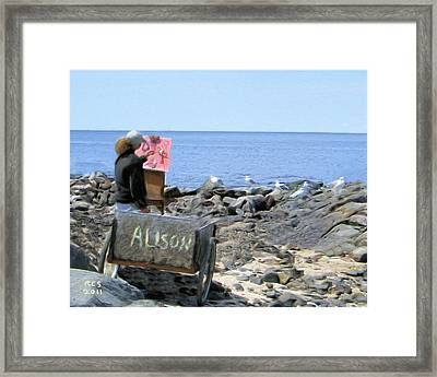 Monhegan Gulls Framed Print by Richard Stevens