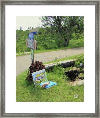Monhegan Lunchtime Framed Print