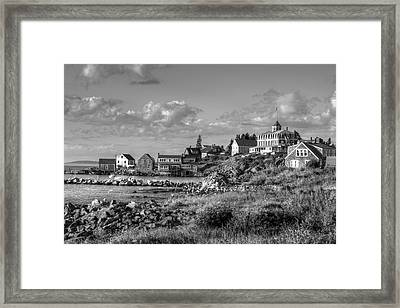 Monhegan Maine Harbor Framed Print by J R Baldini M Photog Cr