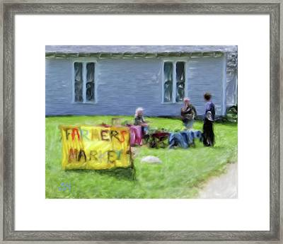 Monhegan Market Framed Print by Richard Stevens