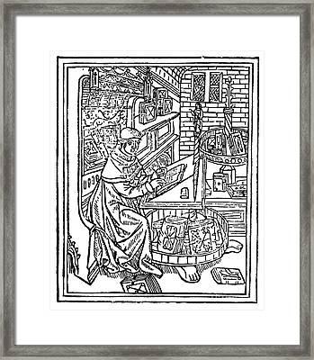 Monk: Scribe, 1488-89 Framed Print by Granger