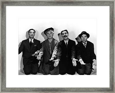 Monkey Business, From Left Zeppo Marx Framed Print