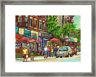 Monkland Tavern Framed Print by Carole Spandau