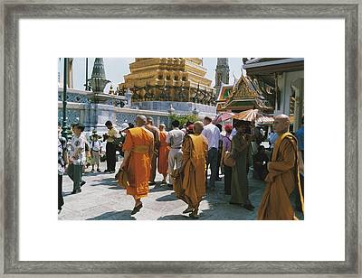 Monks Framed Print