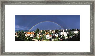 Monkstown, Co Dublin, Ireland Rainbow Framed Print by The Irish Image Collection