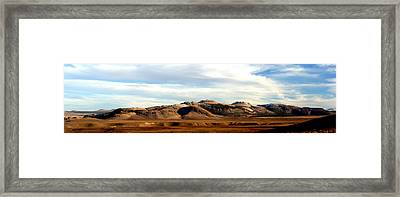 Mono Craters Panorama Framed Print
