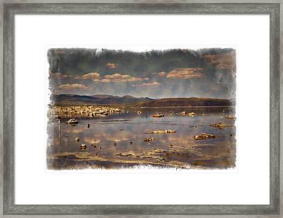 Mono Lake - Impressions Framed Print by Ricky Barnard
