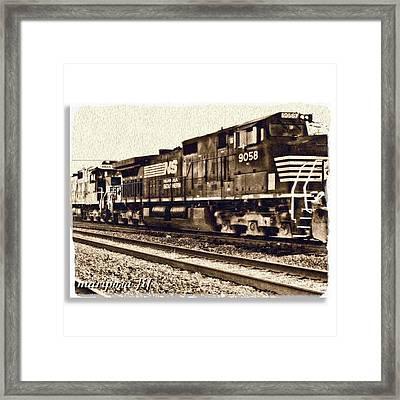 Monochrome Rail Framed Print