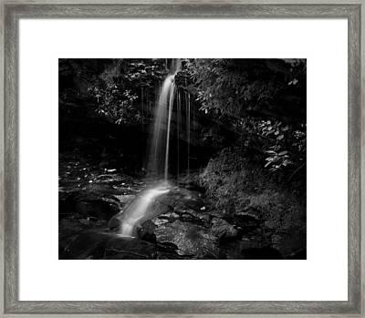 Monochrome Splash Framed Print