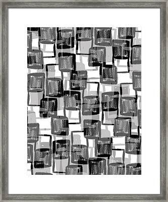 Monochrome Squares Framed Print