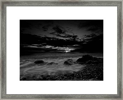 Monochrome Sunset  Framed Print