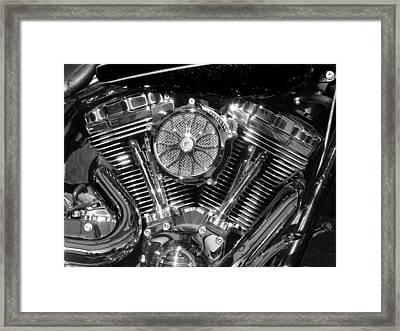 Monochrome Vee Framed Print by Samuel Sheats