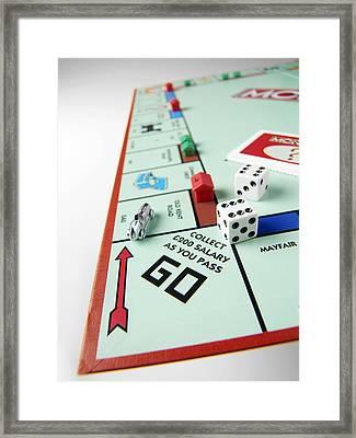 Monopoly Board Game Framed Print by Tek Image