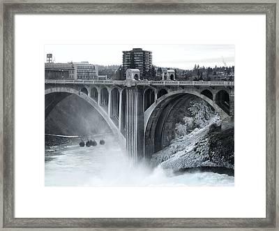 Monroe St Bridge 2 - Spokane Washington Framed Print by Daniel Hagerman