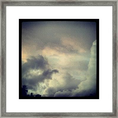 Monsoon Clouds Framed Print
