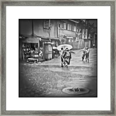 Monsoon Cover Framed Print by Dale Stillman