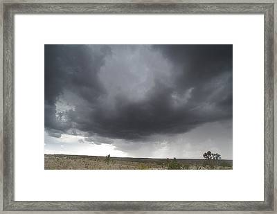 Monsoon Storm Clouds Framed Print by David Edwards