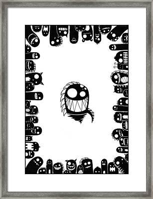 Monster Army Framed Print by Kalie Hoodhood