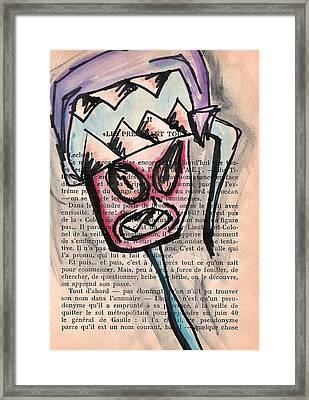 Monster Boone Framed Print by Jera Sky